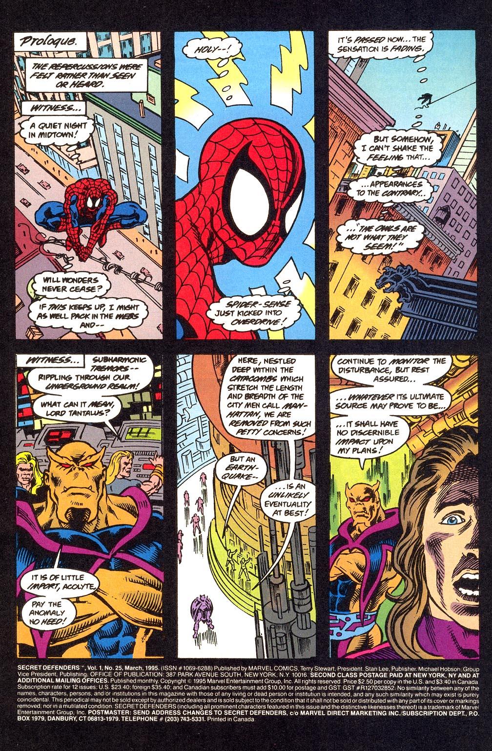 Read online Secret Defenders comic -  Issue #25 - 2