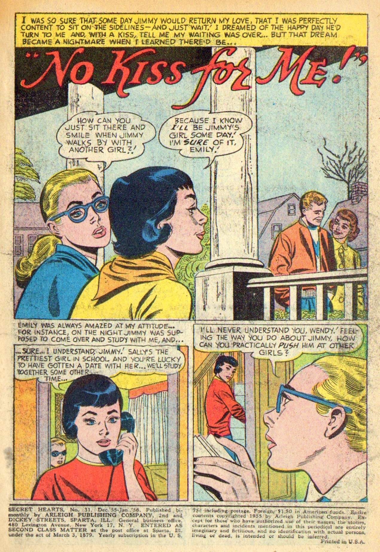 Read online Secret Hearts comic -  Issue #31 - 3