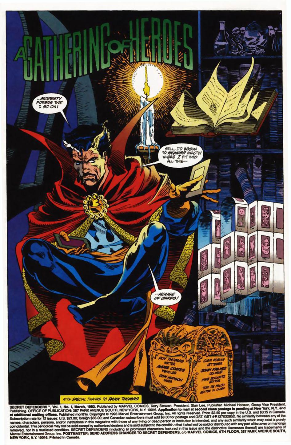Read online Secret Defenders comic -  Issue #1 - 3