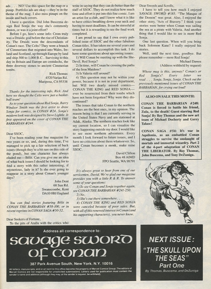 The Savage Sword Of Conan Issue #189 #190 - English 65