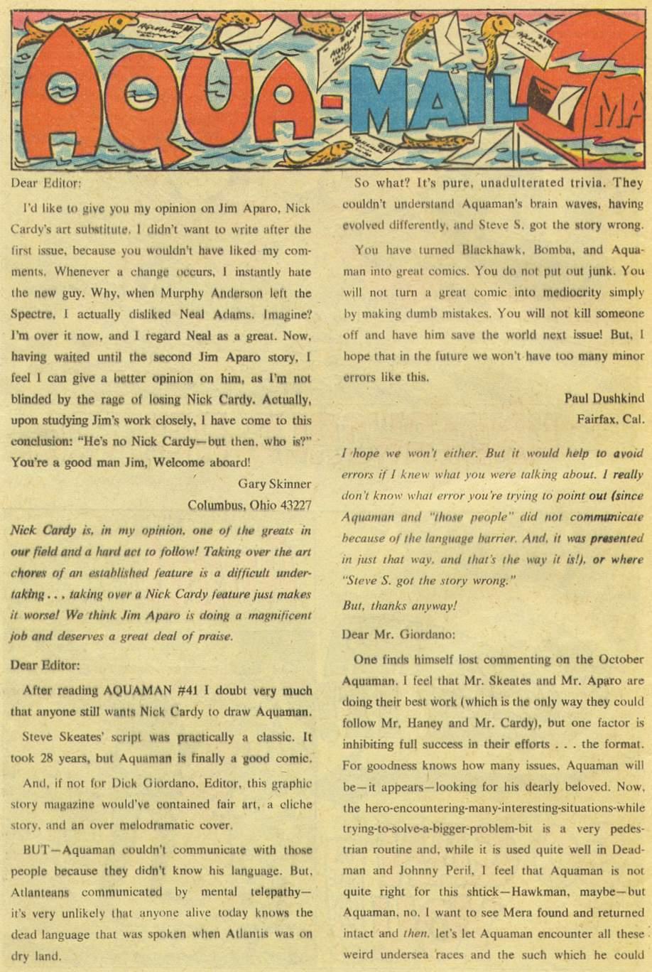 Read online Aquaman (1962) comic -  Issue #43 - 32