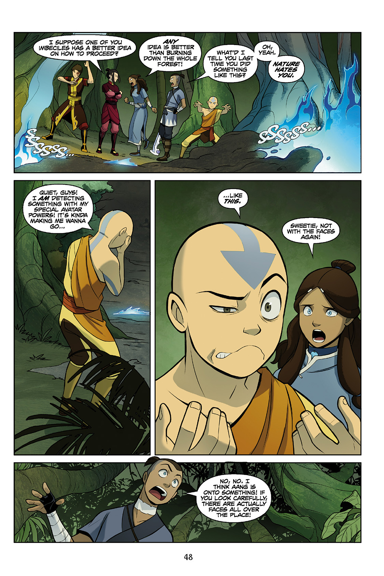 Read online Nickelodeon Avatar: The Last Airbender - The Search comic -  Issue # Part 2 - 49