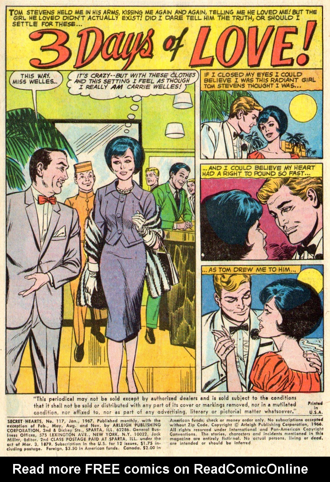 Read online Secret Hearts comic -  Issue #117 - 3