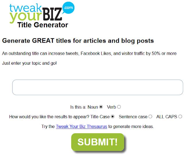 Title generator by TweakYourBiz : EPB