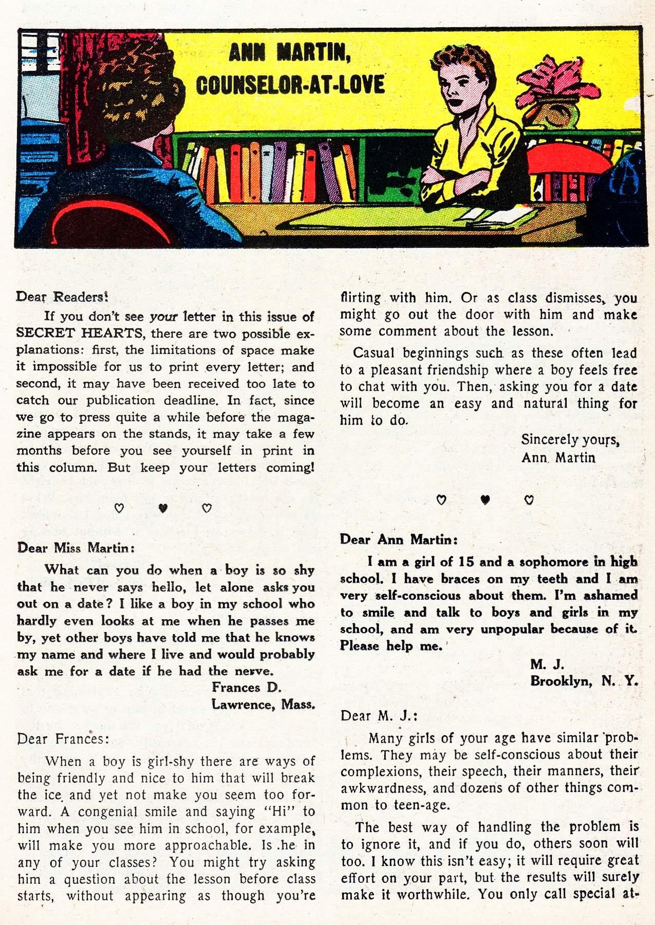 Read online Secret Hearts comic -  Issue #16 - 23