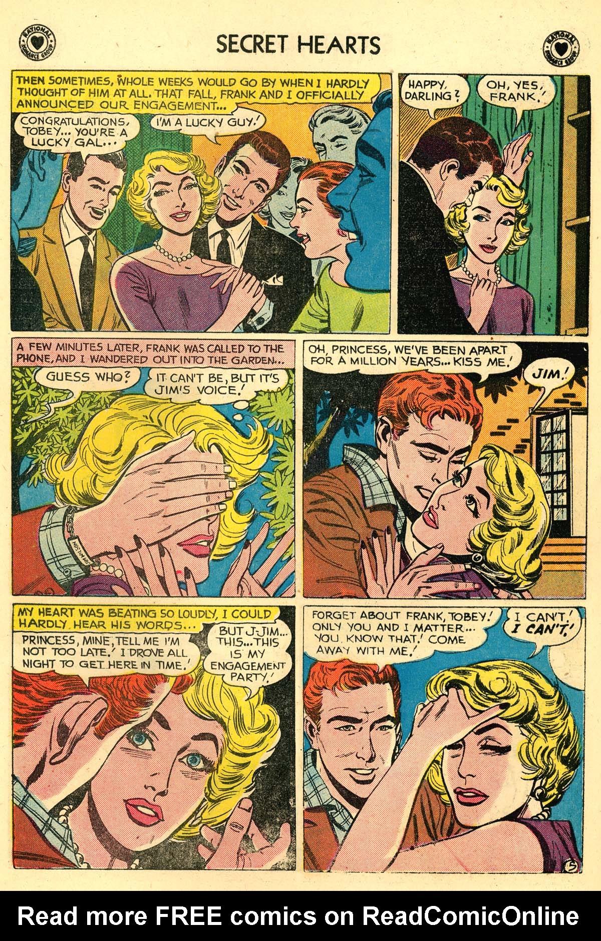 Read online Secret Hearts comic -  Issue #59 - 22