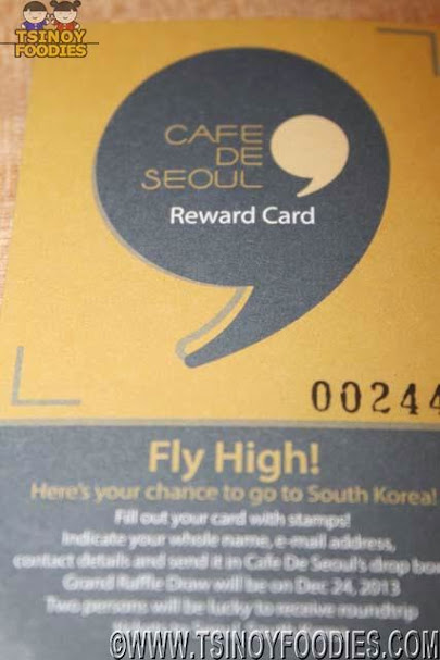 cafe de seoul reward card