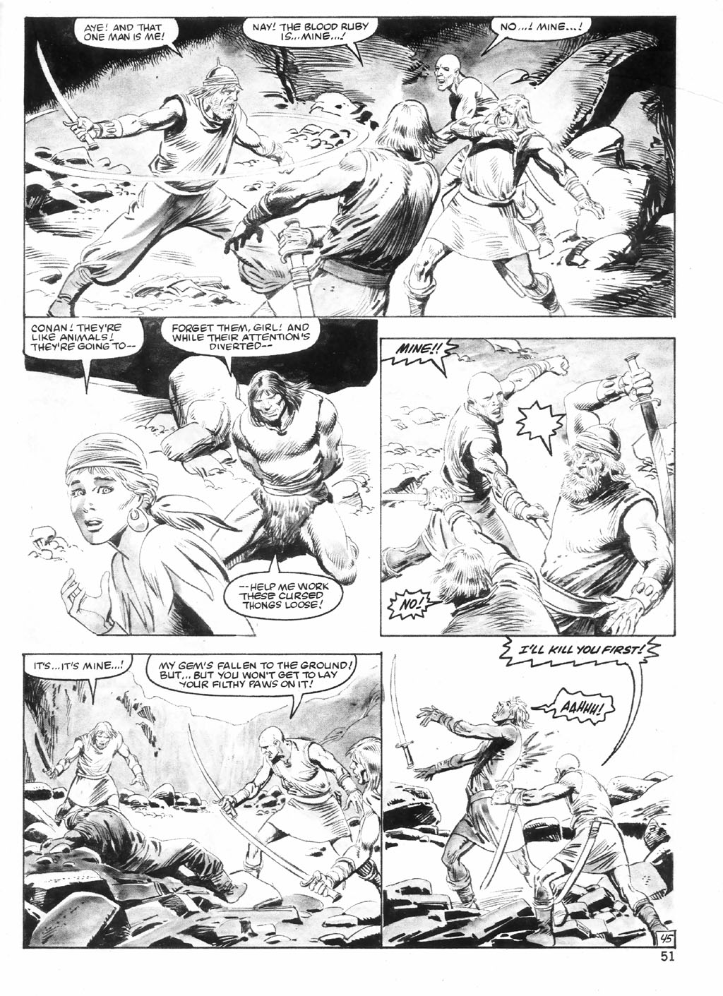 The Savage Sword Of Conan Issue #98 #99 - English 51