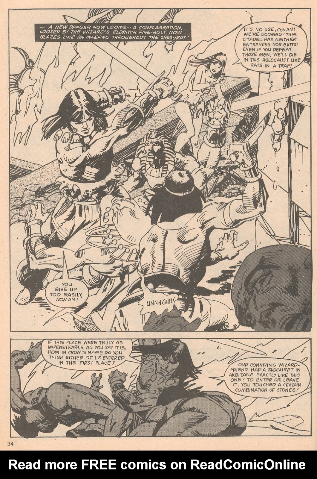 The Savage Sword Of Conan Issue #65 #66 - English 34