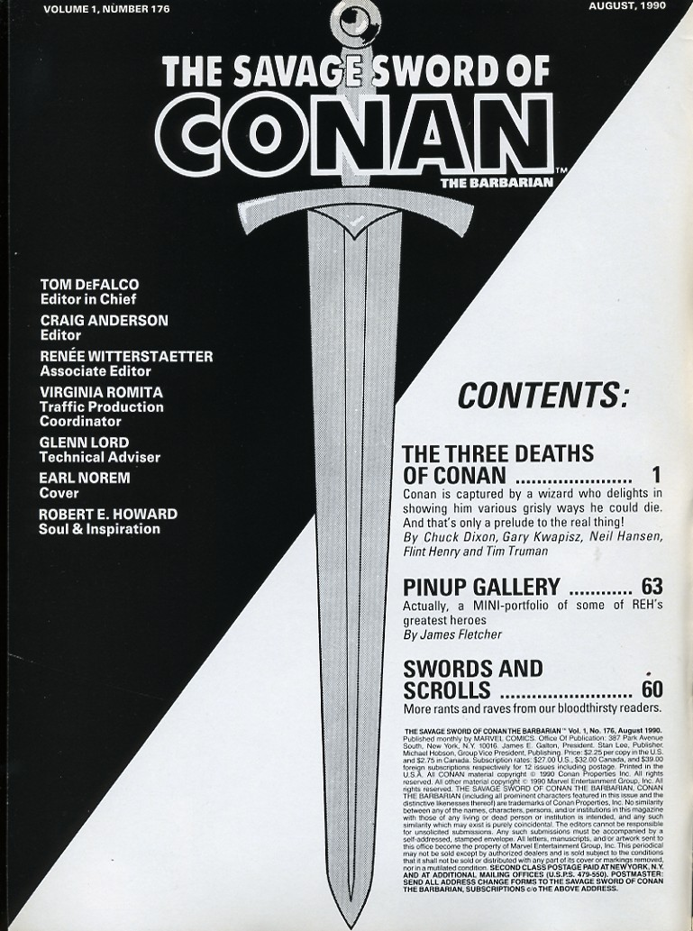 The Savage Sword Of Conan Issue #176 #177 - English 2