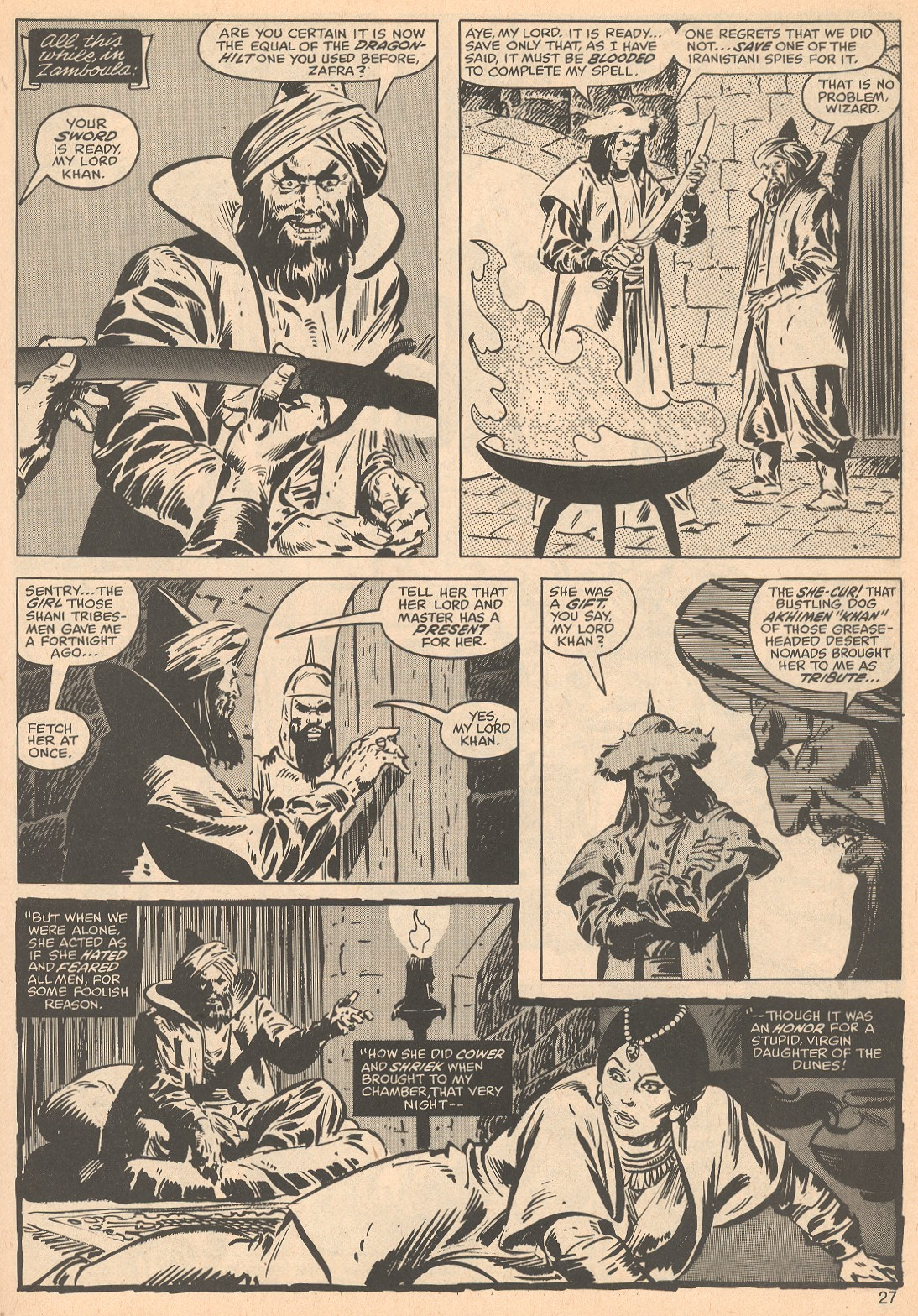 The Savage Sword Of Conan Issue #56 #57 - English 27