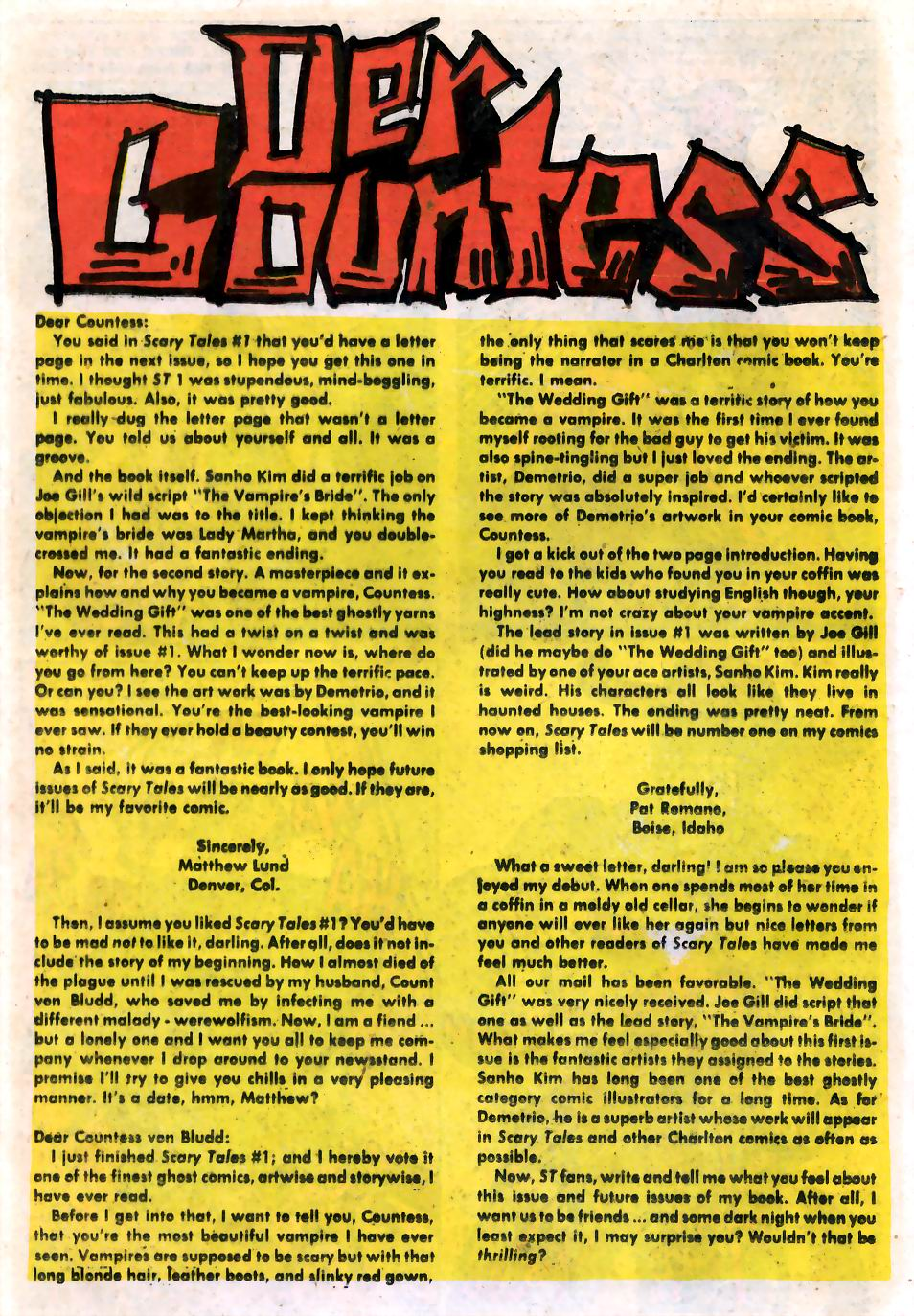 Read online Scary Tales comic -  Issue #2 - 16