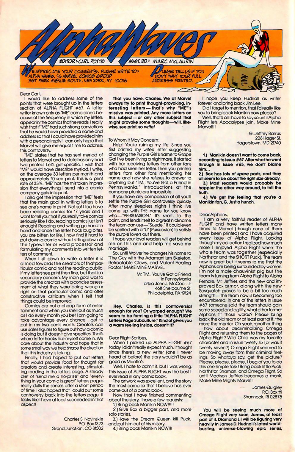 Alpha Flight (1983) 71 Page 26