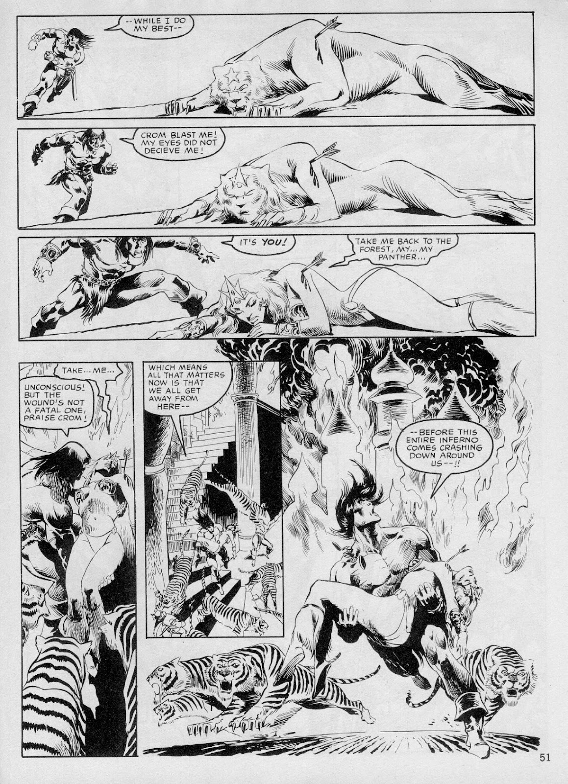 The Savage Sword Of Conan Issue #103 #104 - English 50