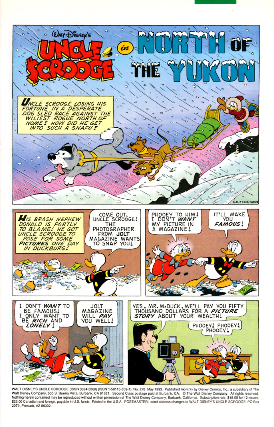 Uncle Scrooge (1953) Issue #278 #278 - English 2