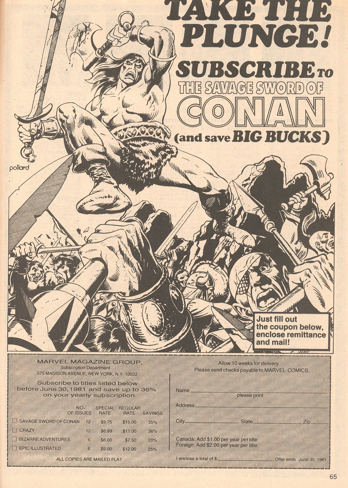 The Savage Sword Of Conan Issue #66 #67 - English 65