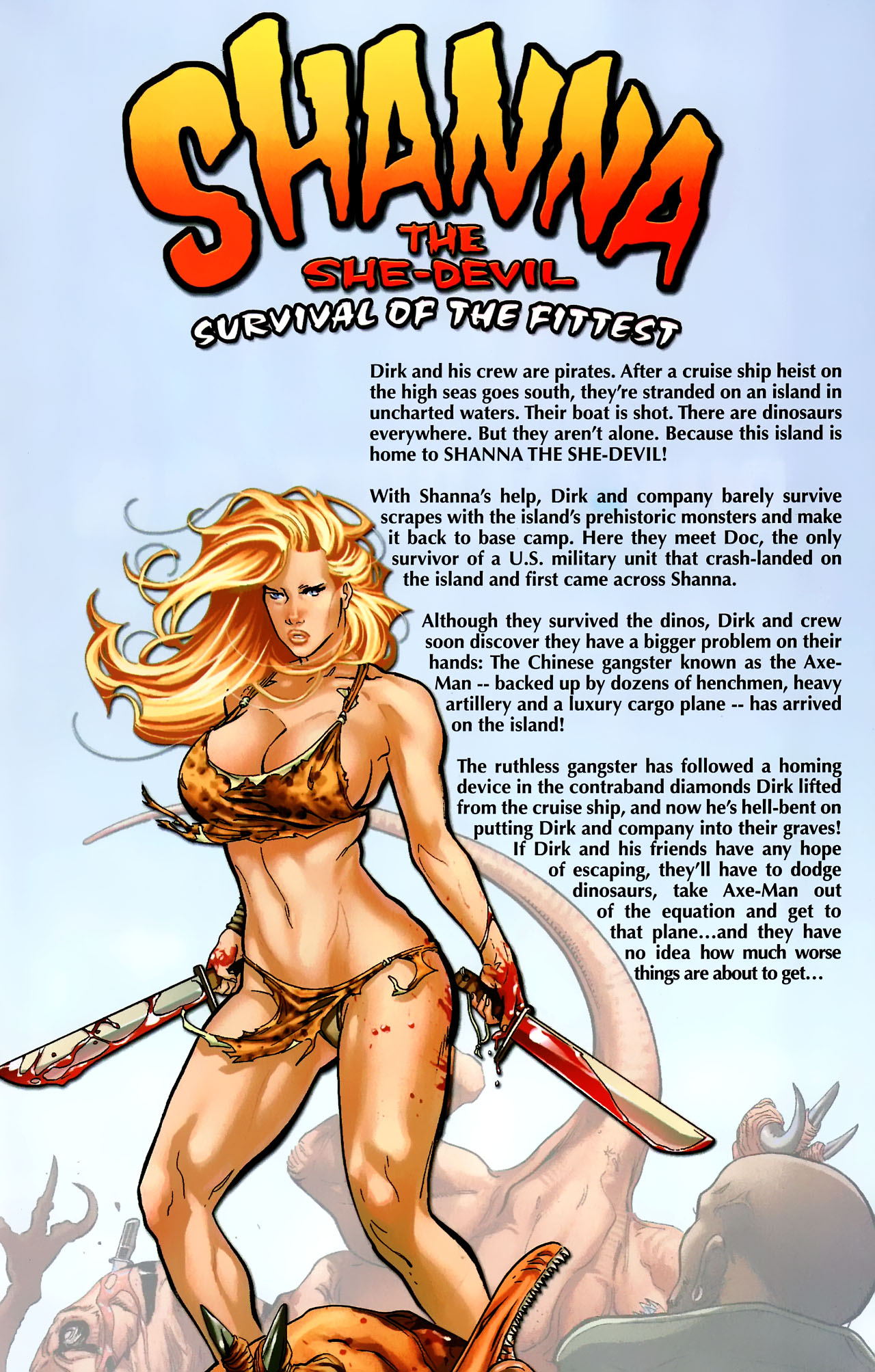 Read online Shanna the She-Devil: Survival of the Fittest comic -  Issue #2 - 2