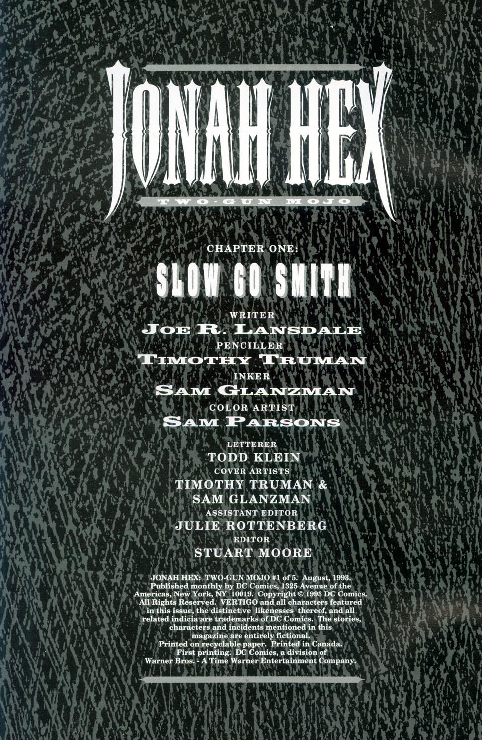 Jonah Hex: Two-Gun Mojo Issue #1 #1 - English 2