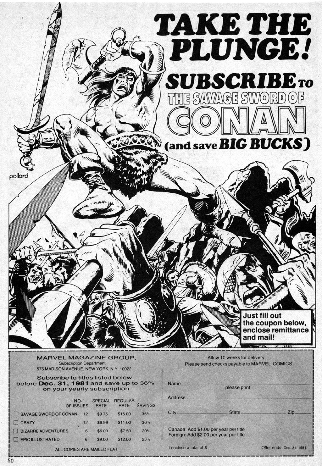 The Savage Sword Of Conan Issue #69 #70 - English 50