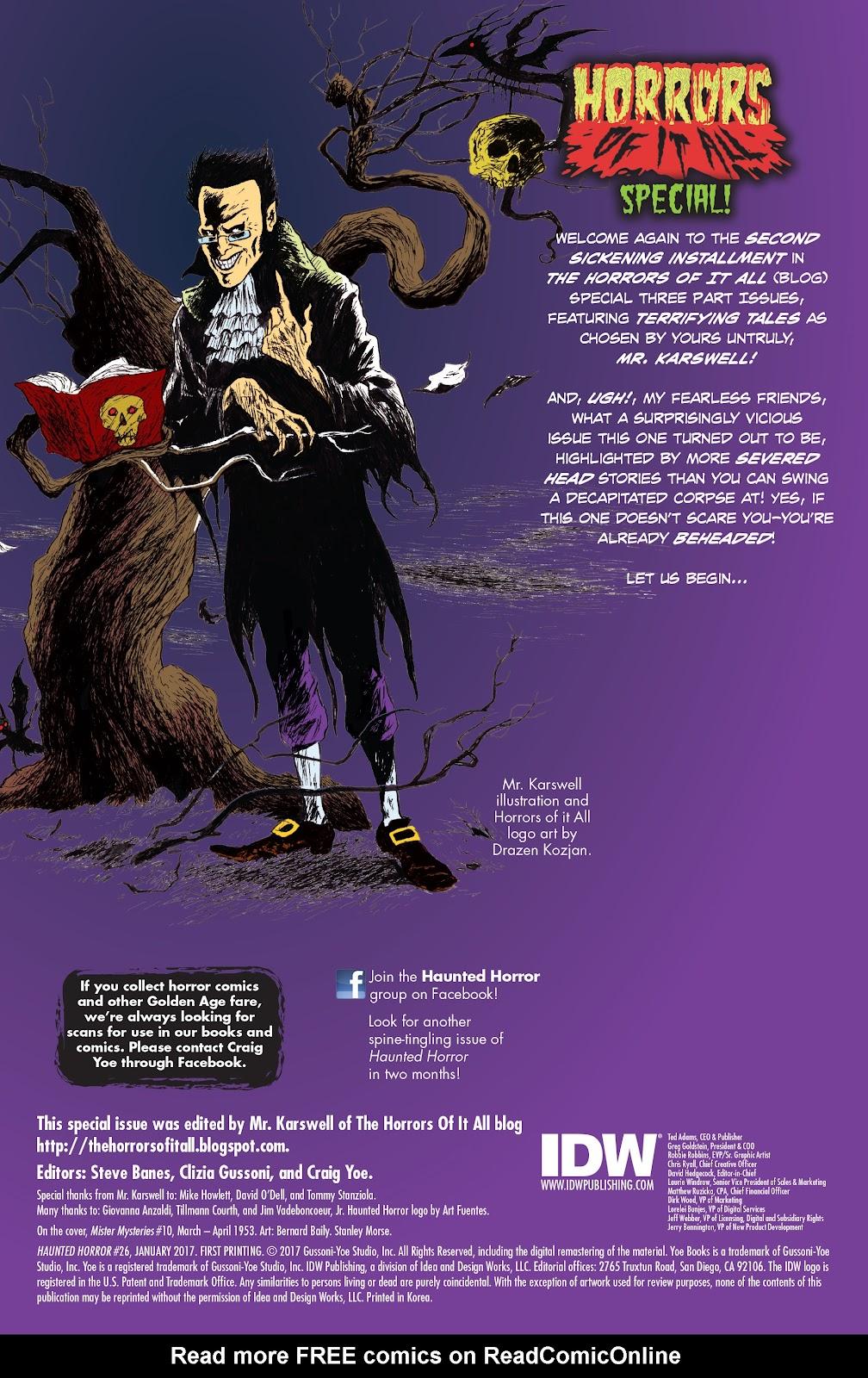 Haunted Horror Issue #26 #26 - English 2