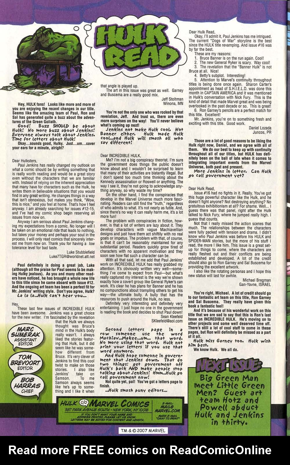 Read online The Incredible Hulk (2000) comic -  Issue #20 - 32