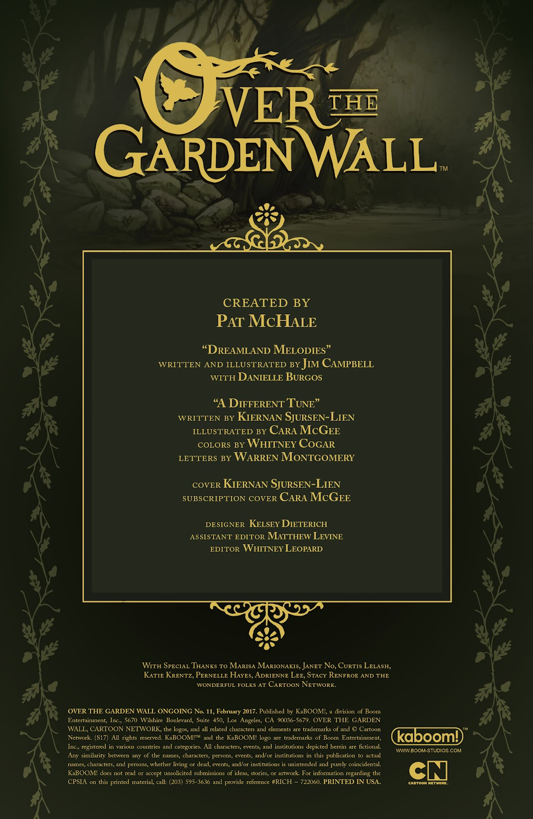 Over the Garden Wall (2016) Issue #11 #11 - English 2