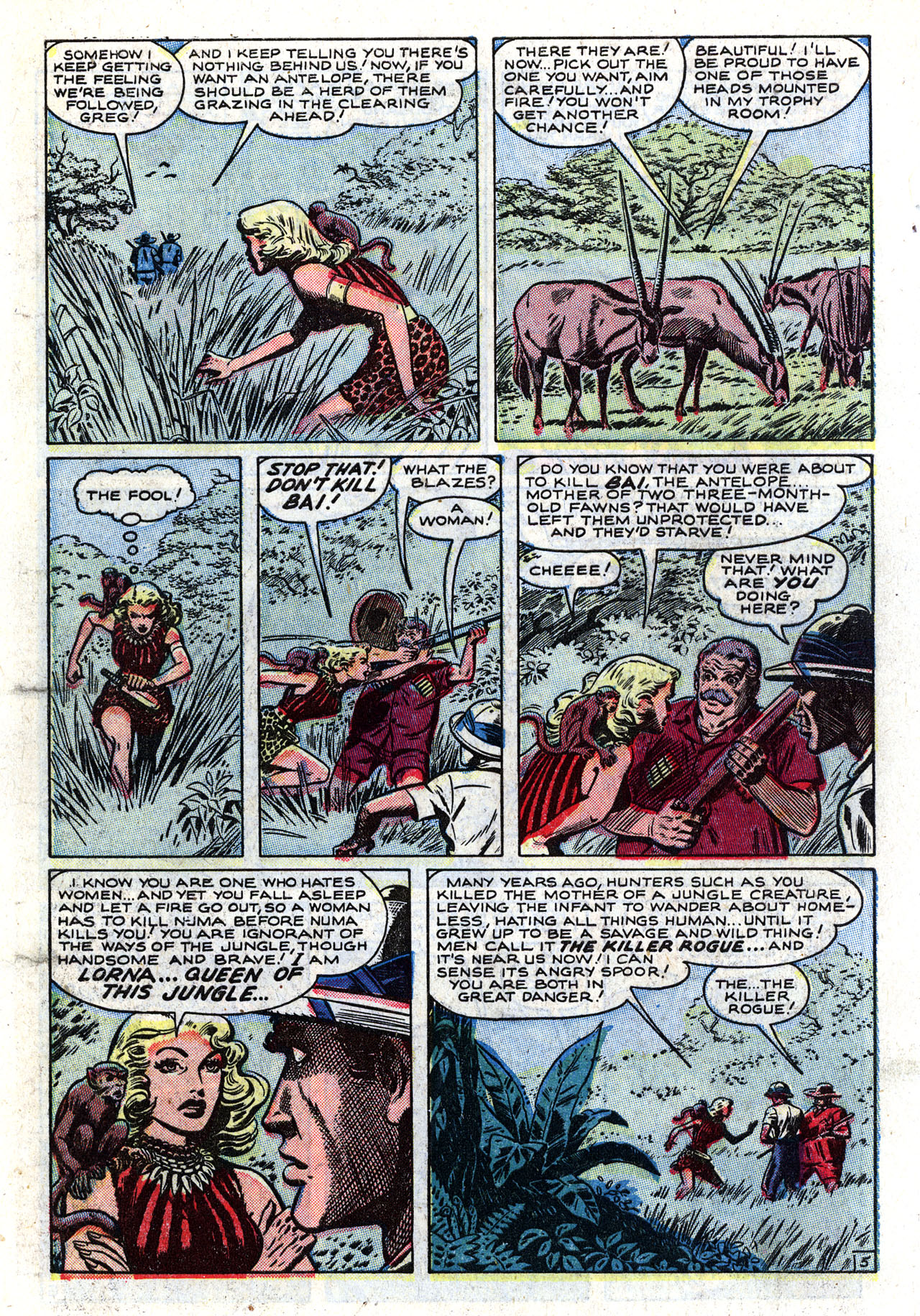 Read online Lorna, The Jungle Queen comic -  Issue #2 - 7