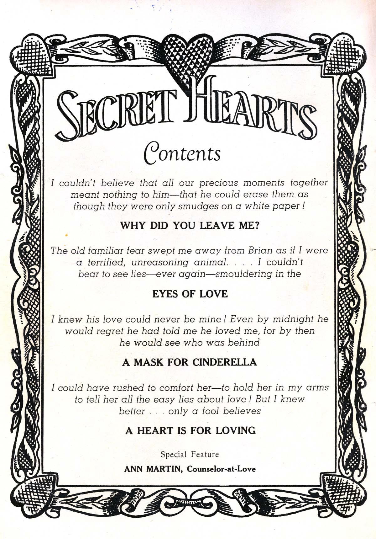 Read online Secret Hearts comic -  Issue #54 - 2