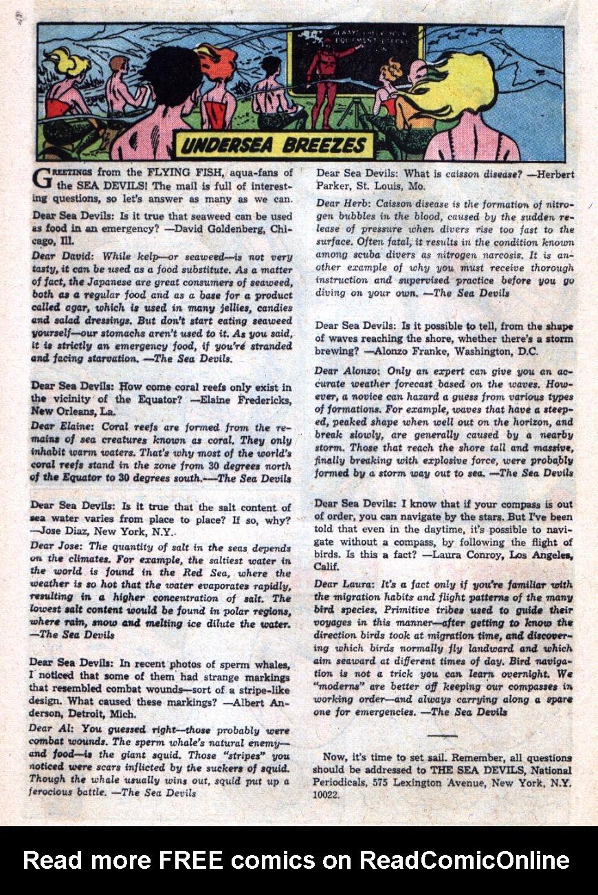 Read online Sea Devils comic -  Issue #26 - 25