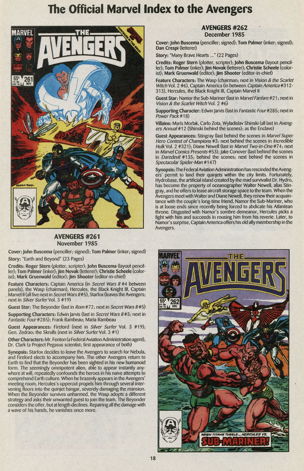 Comic The Official Marvel Index to the Avengers issue 5