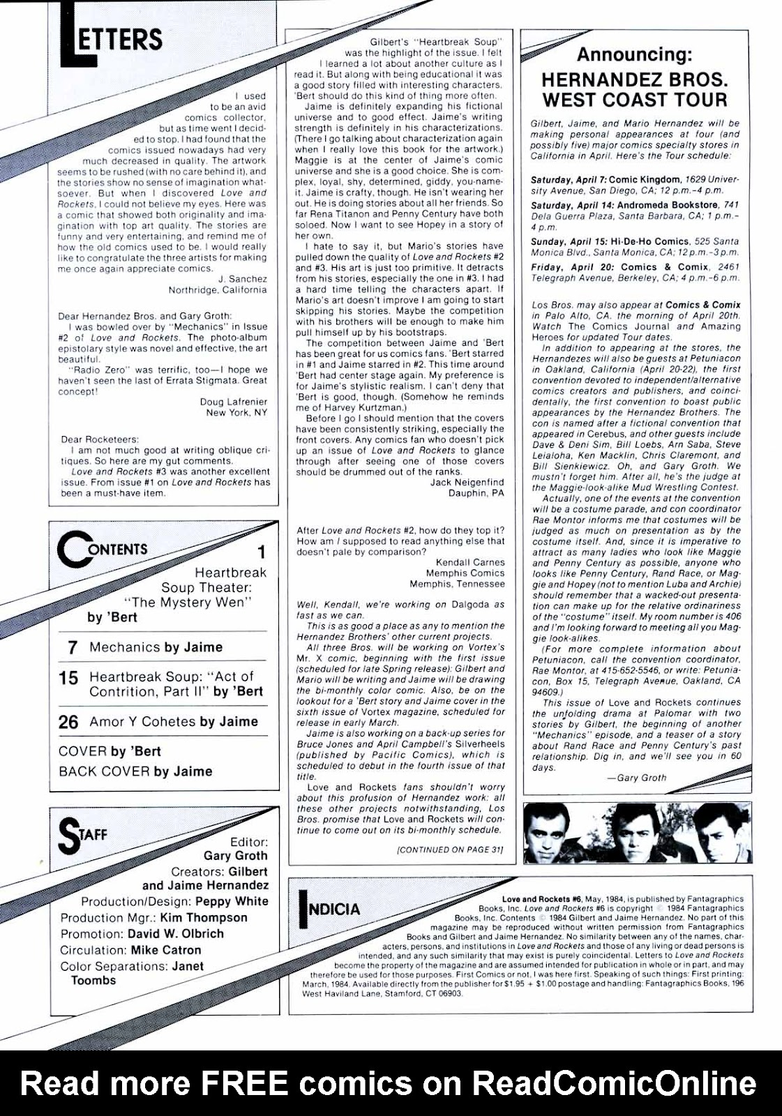 Love and Rockets (1982) Issue #6 #5 - English 2