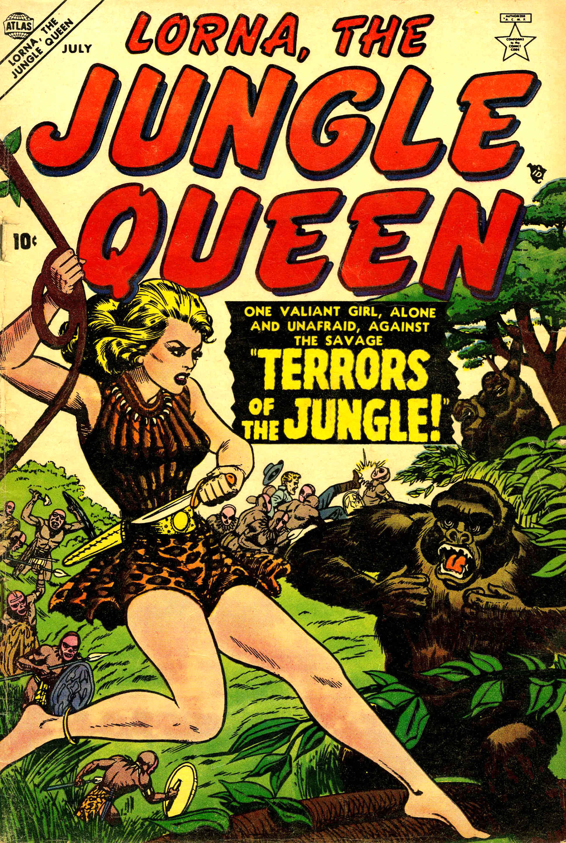 Read online Lorna, The Jungle Queen comic -  Issue #1 - 1