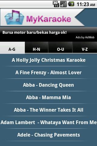 aplikasi android keren, karaoke di ponsel android, cara karaoke di hp android