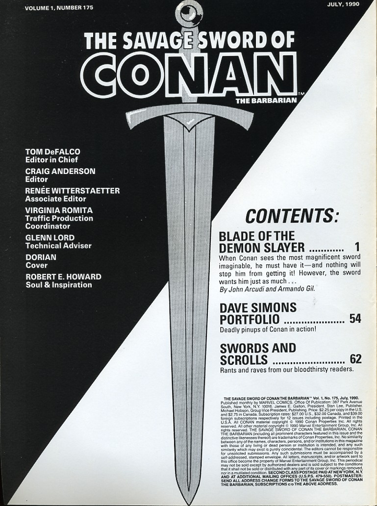 The Savage Sword Of Conan Issue #175 #176 - English 2