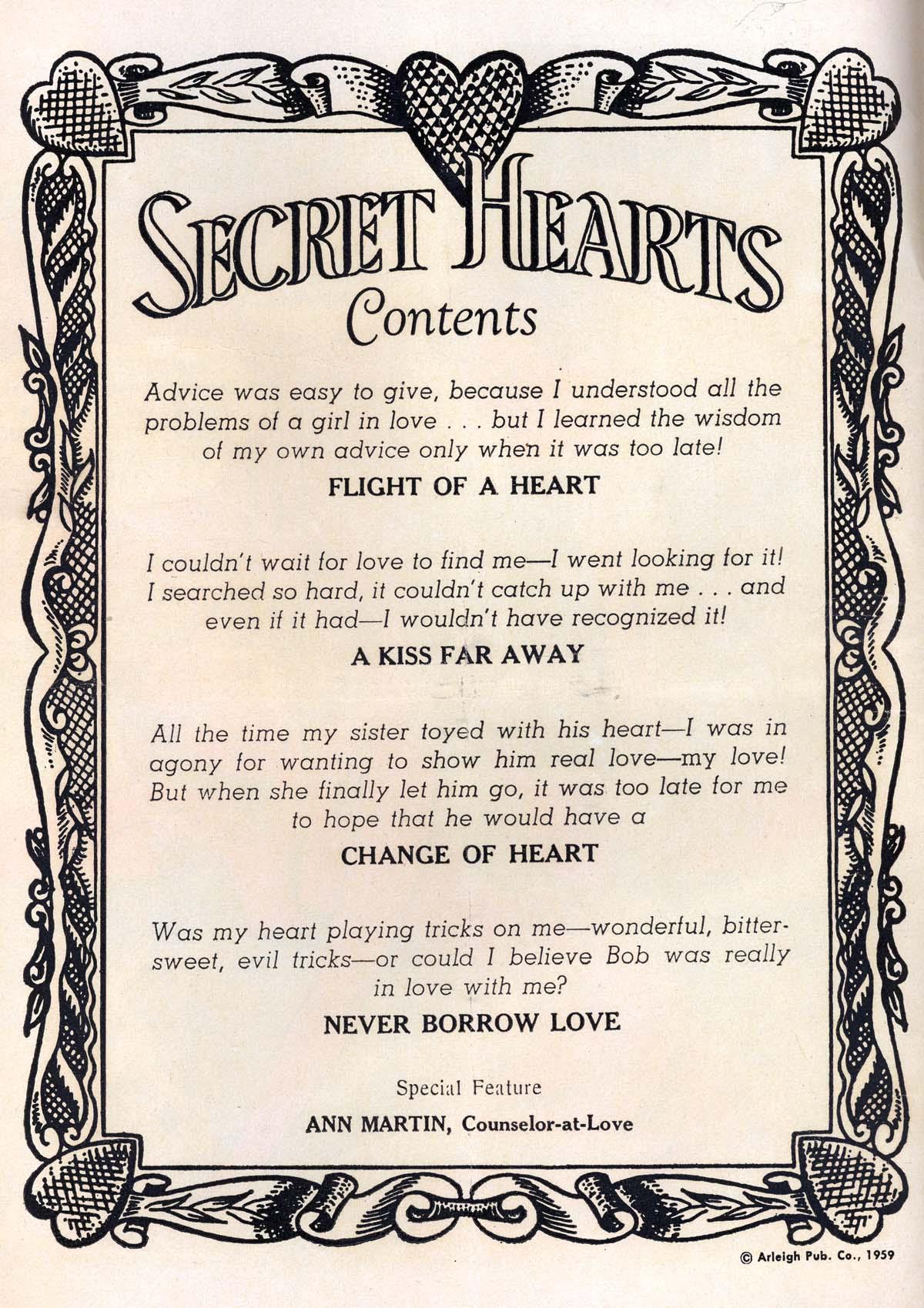 Read online Secret Hearts comic -  Issue #57 - 2