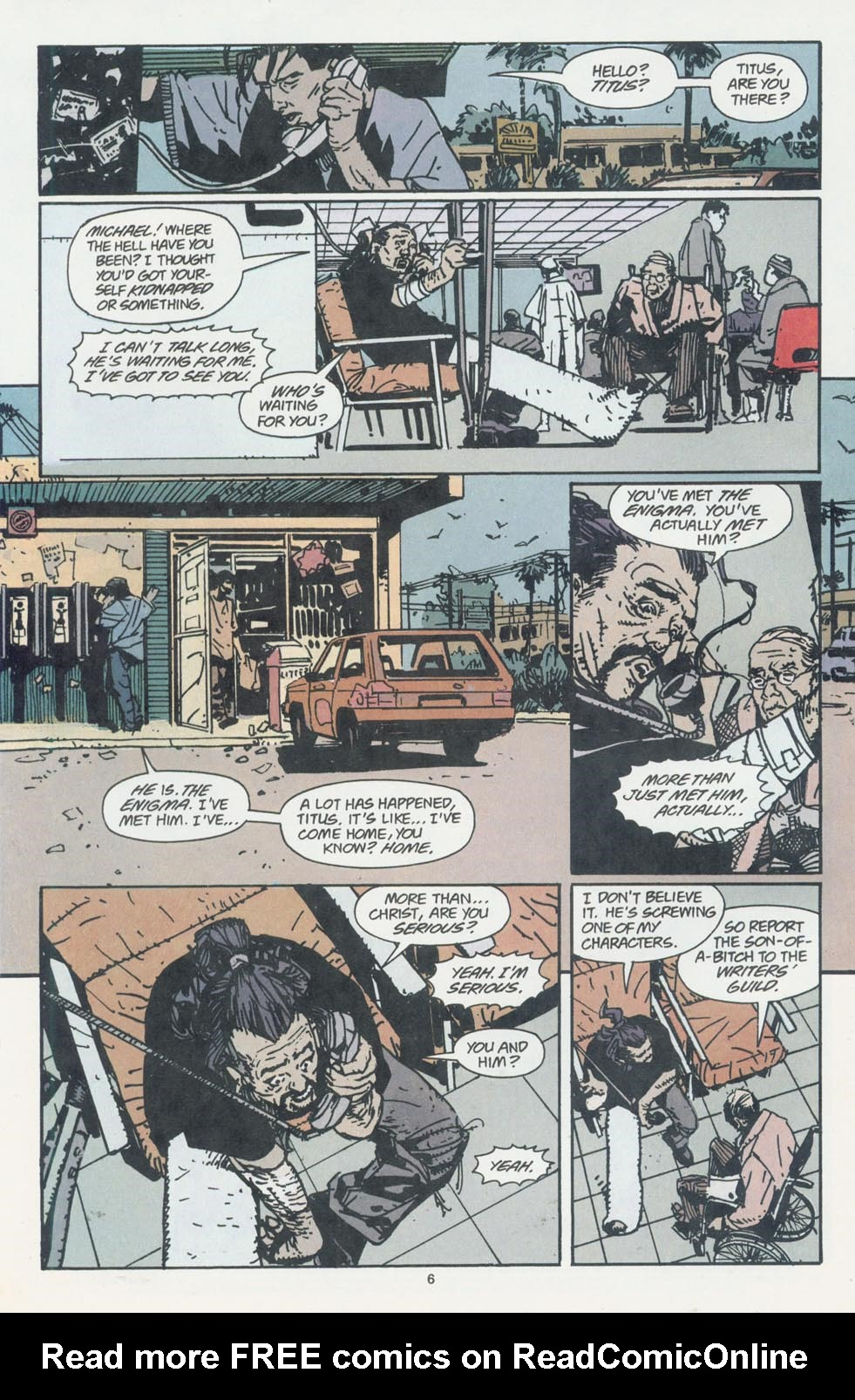 Read online Enigma comic -  Issue #7 - 8