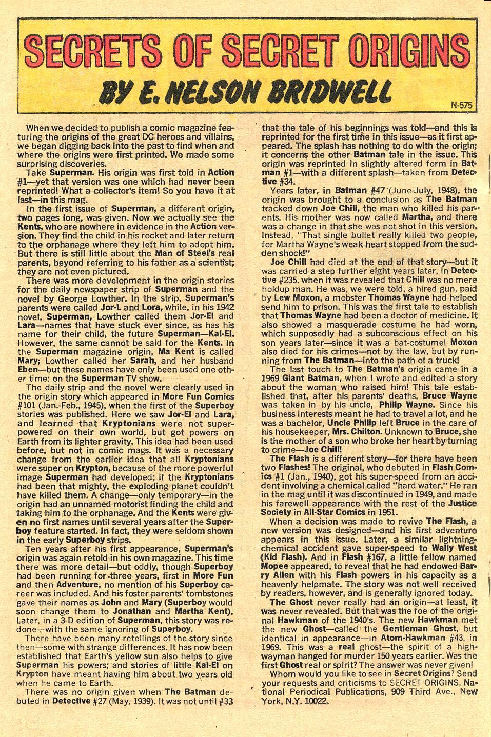 Read online Secret Origins (1973) comic -  Issue #1 - 18