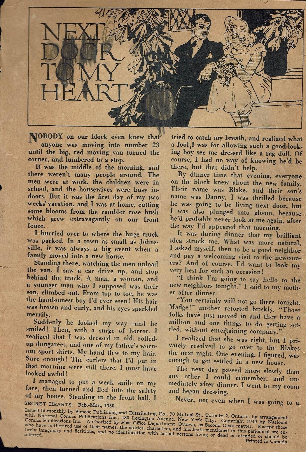 Read online Secret Hearts comic -  Issue #2 - 2