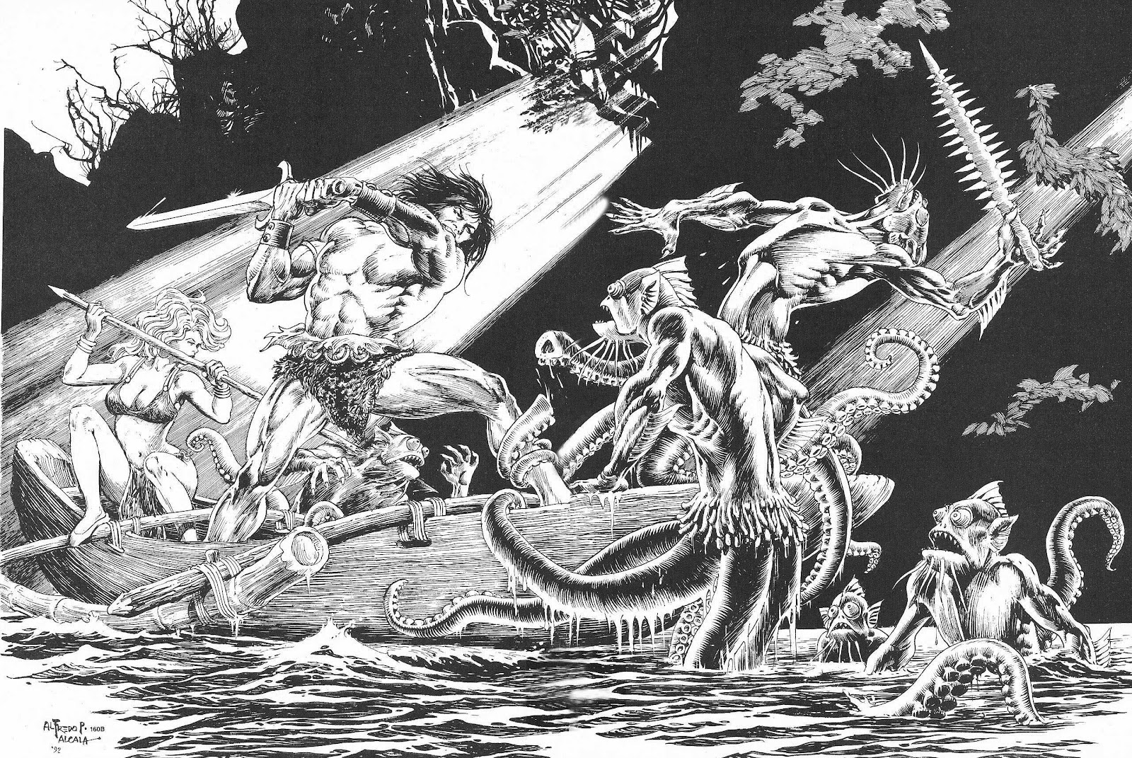 The Savage Sword Of Conan Issue #207 #208 - English 53