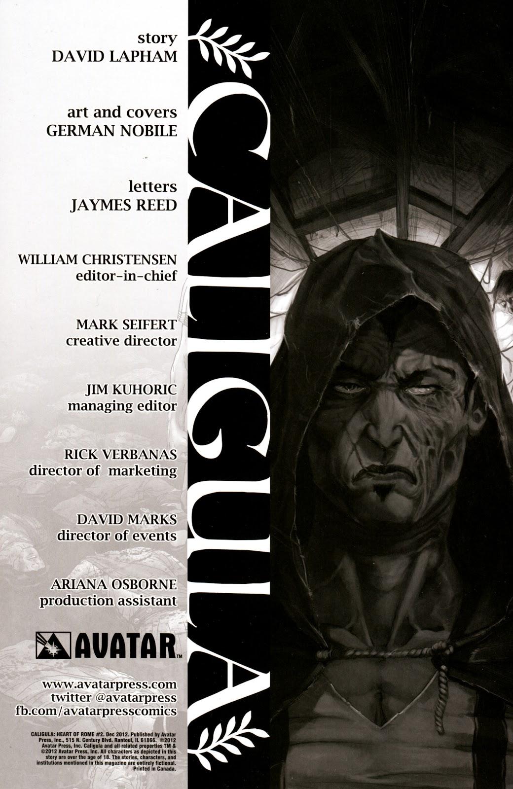 Caligula: Heart of Rome Issue #2 #2 - English 2