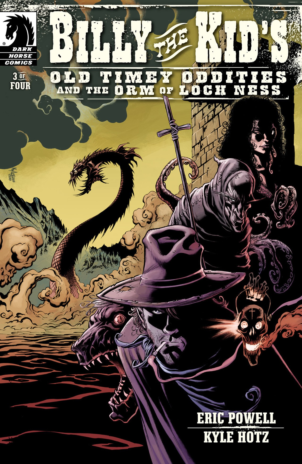 Read online Billy the Kid's Old Timey Oddities and the Orm of Loch Ness comic -  Issue #3 - 1