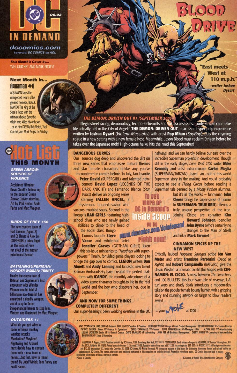 Aquaman (2003) Issue #7 #7 - English 25