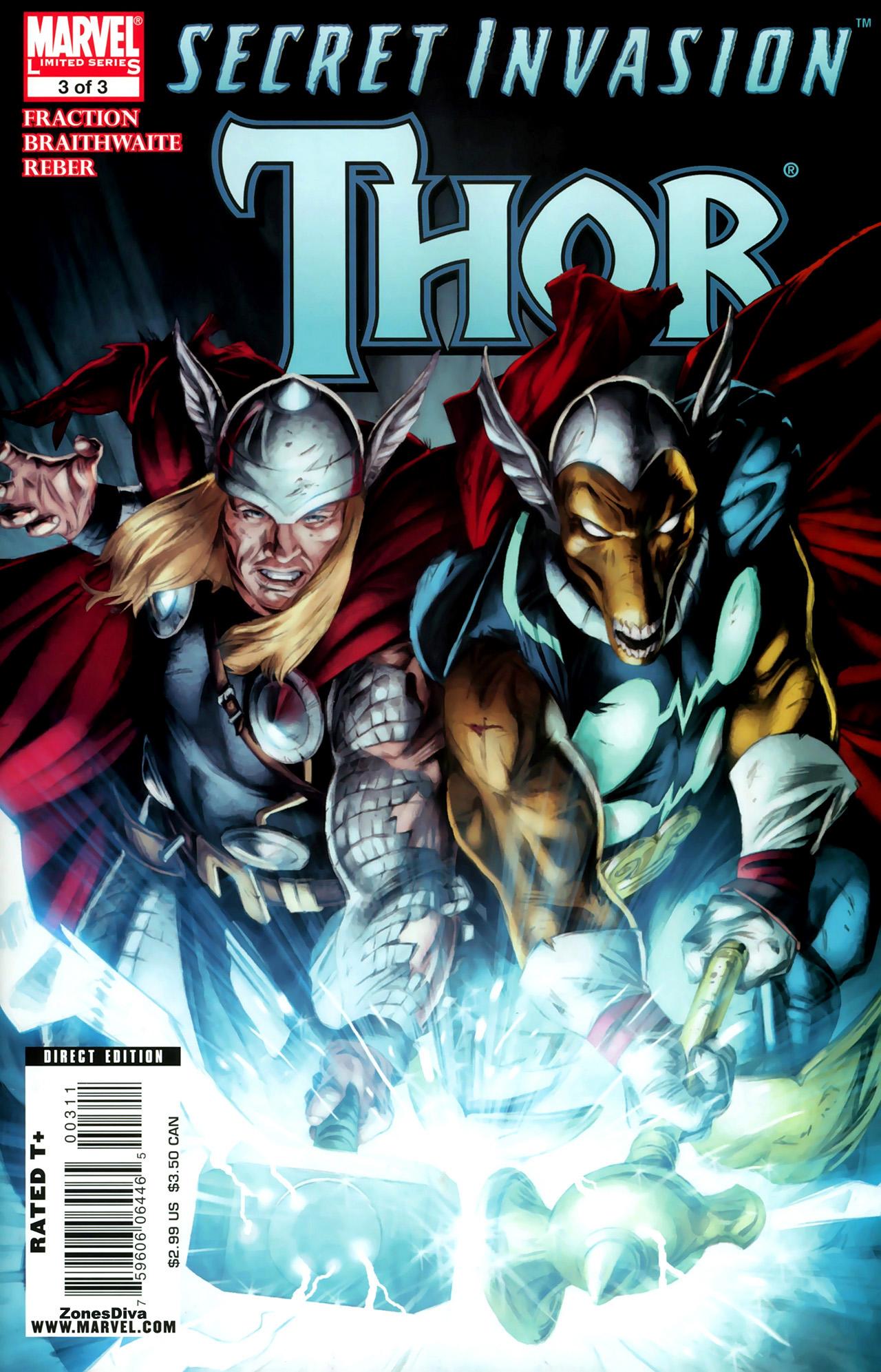 Read online Secret Invasion: Thor comic -  Issue #3 - 1