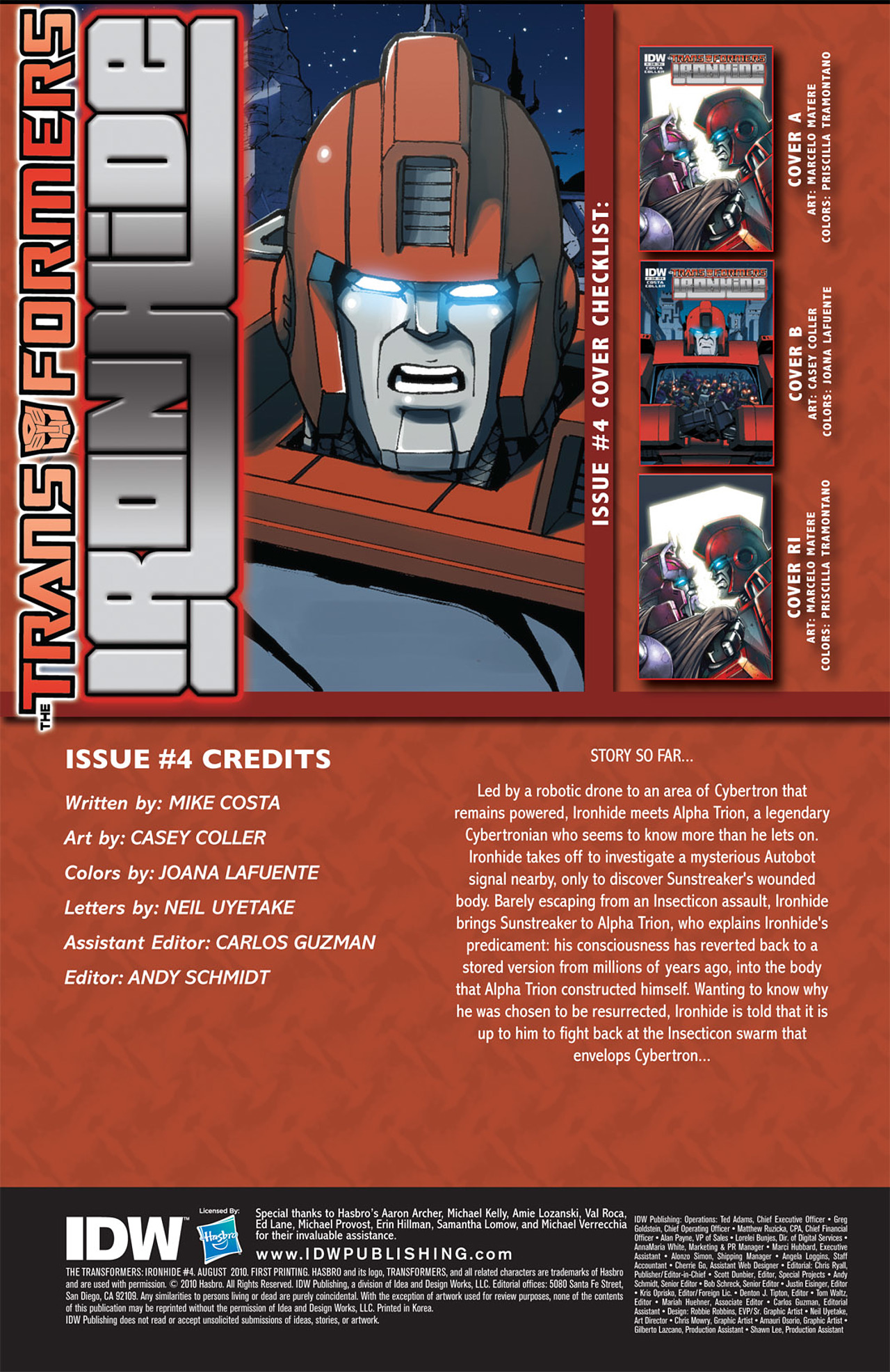 Read online The Transformers: Ironhide comic -  Issue #4 - 4