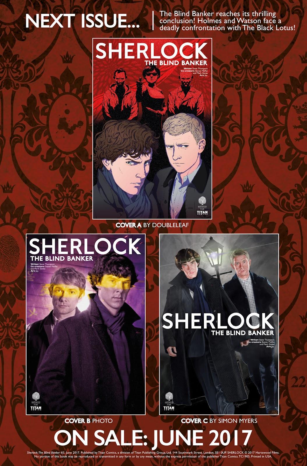 Sherlock: The Blind Banker Issue #5 #5 - English 41