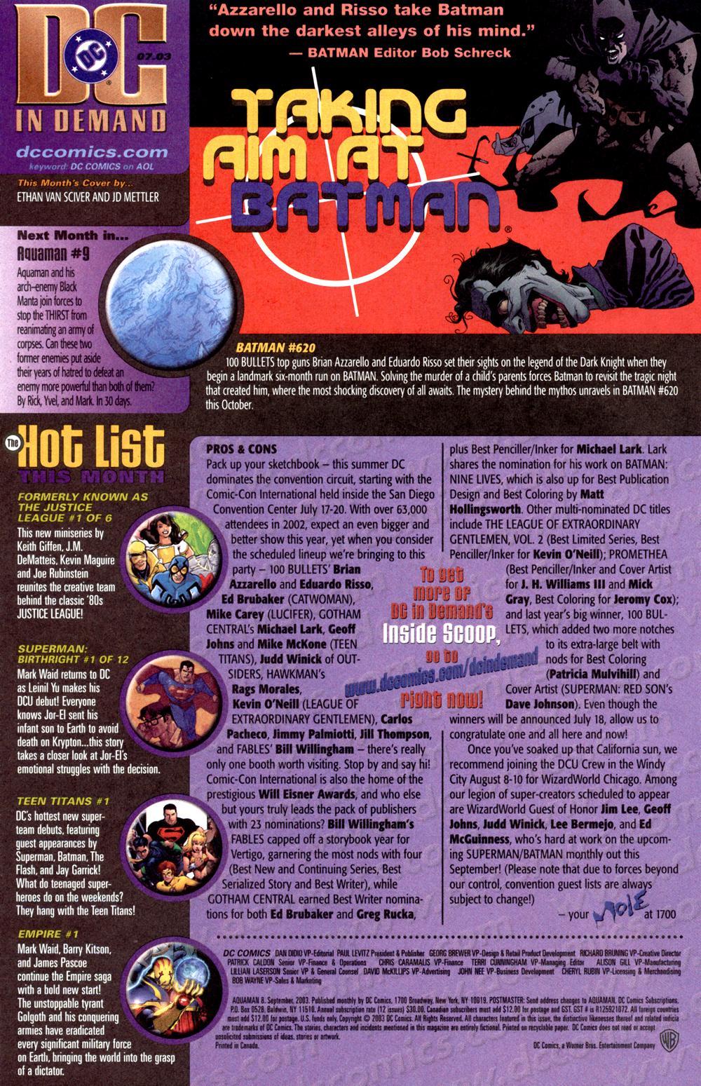Aquaman (2003) Issue #8 #8 - English 24