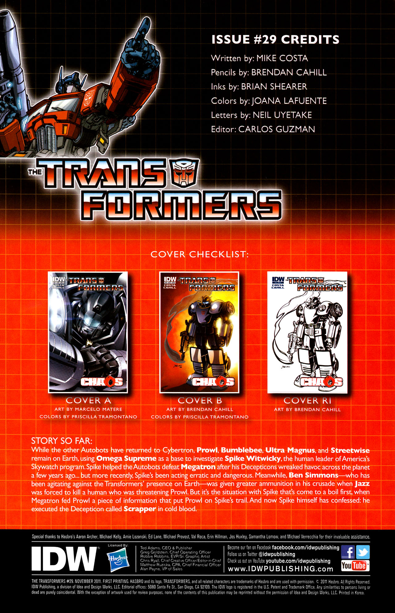 Read online The Transformers (2009) comic -  Issue #29 - 4
