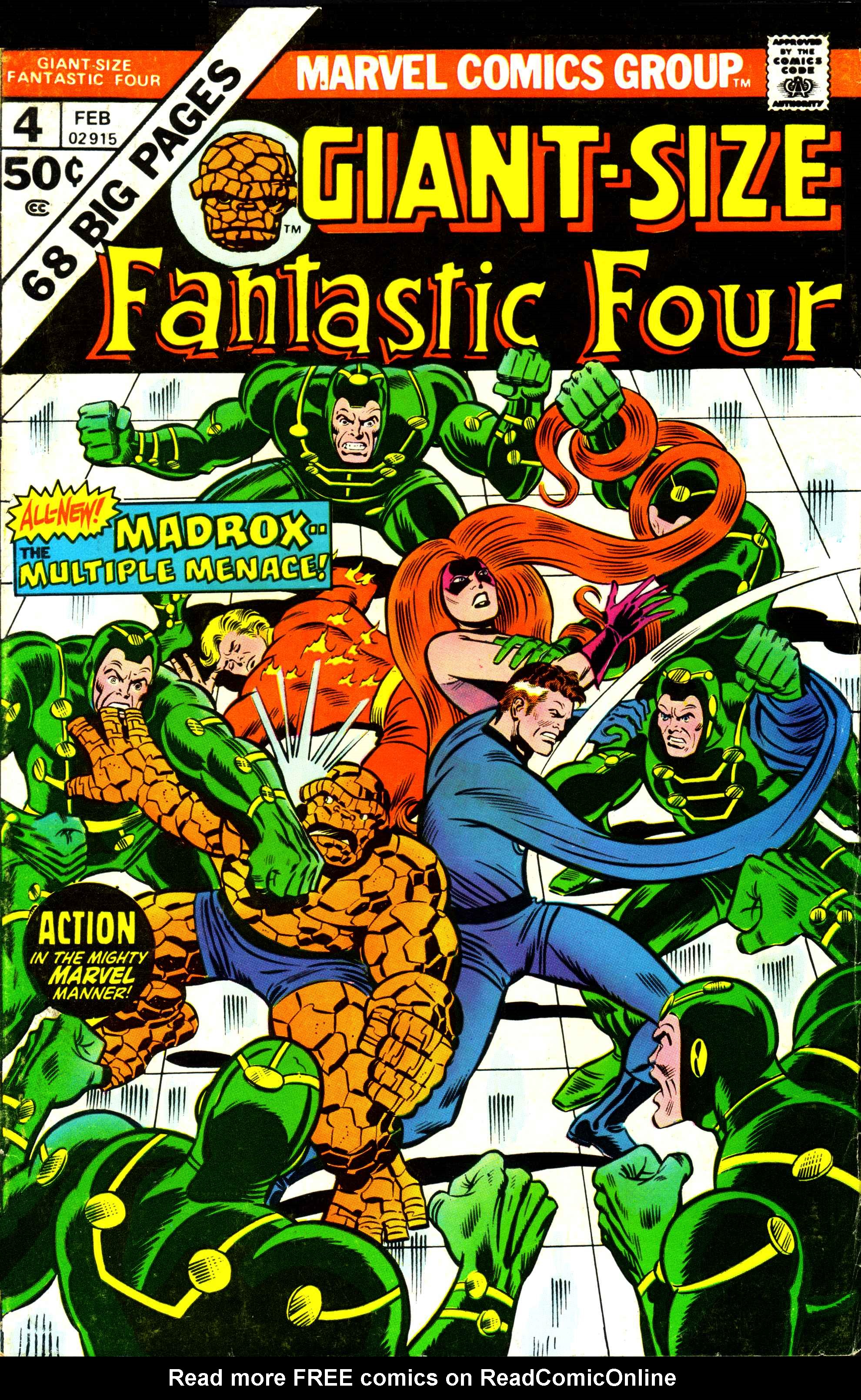 Giant-Size Fantastic Four 4 Page 1