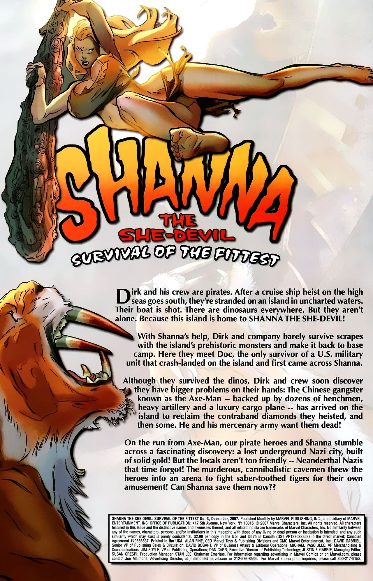 Read online Shanna the She-Devil: Survival of the Fittest comic -  Issue #3 - 2