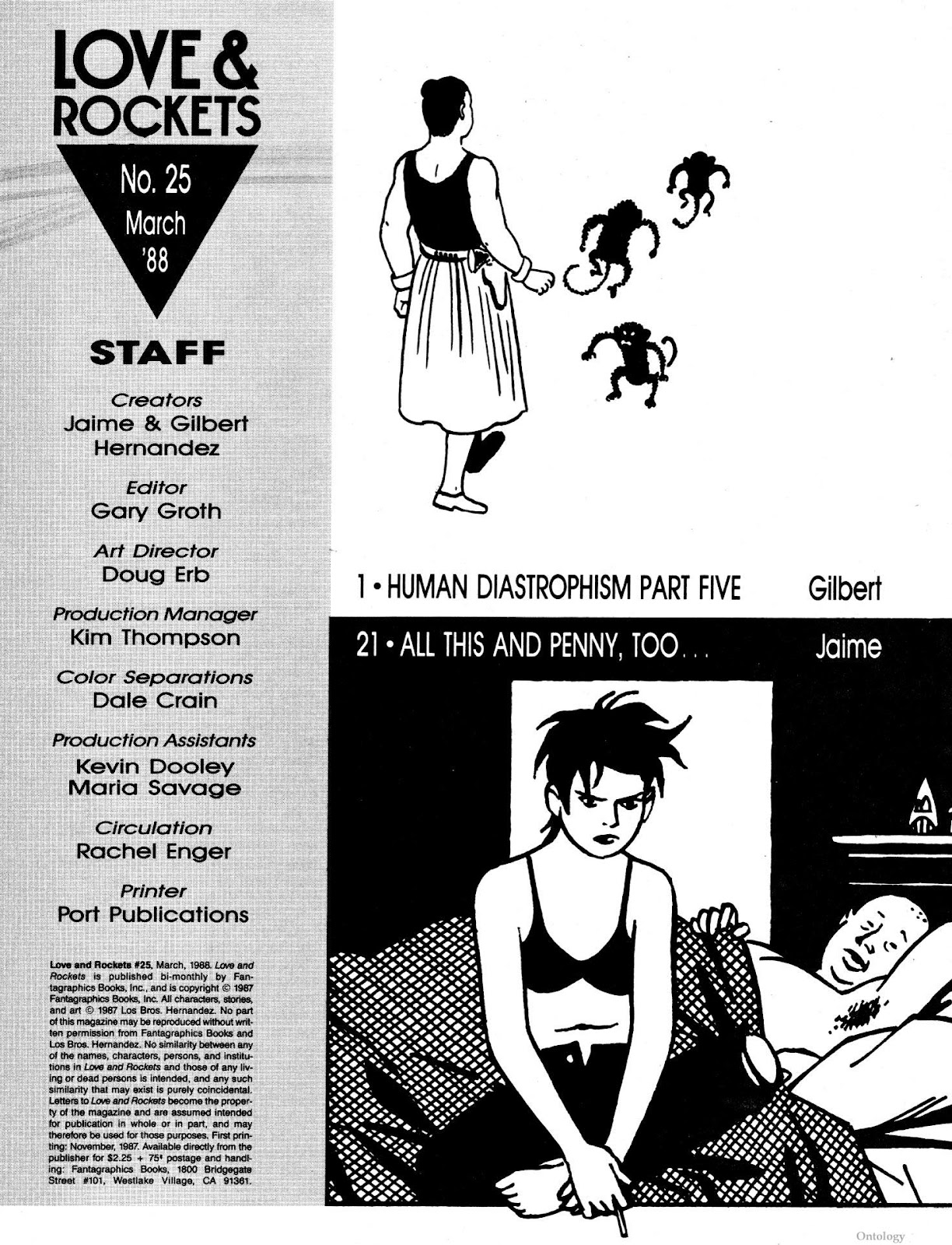Love and Rockets (1982) Issue #25 #24 - English 3